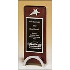 1584  Rosewood piano-finish award with chrome plated star